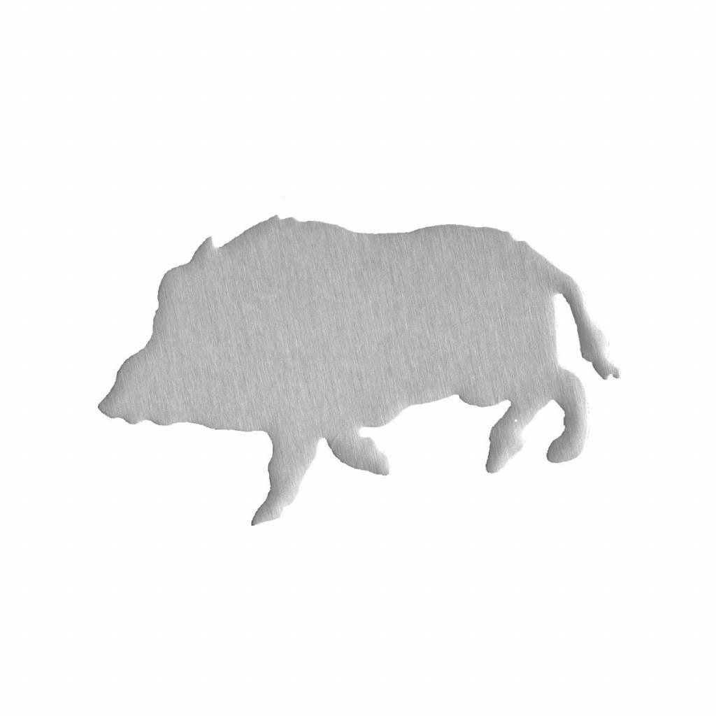 Autosticker RVS  wildzwijn
