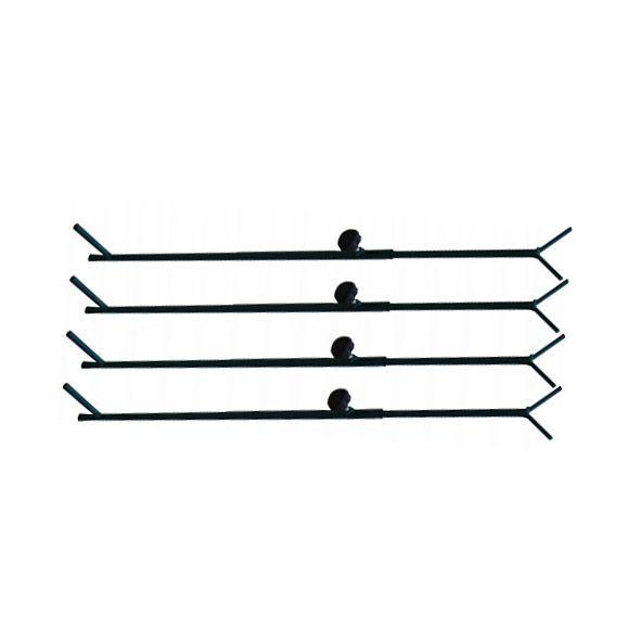 Verstelbare poten staal tbv camouflagenet 90-180cm 4stuks
