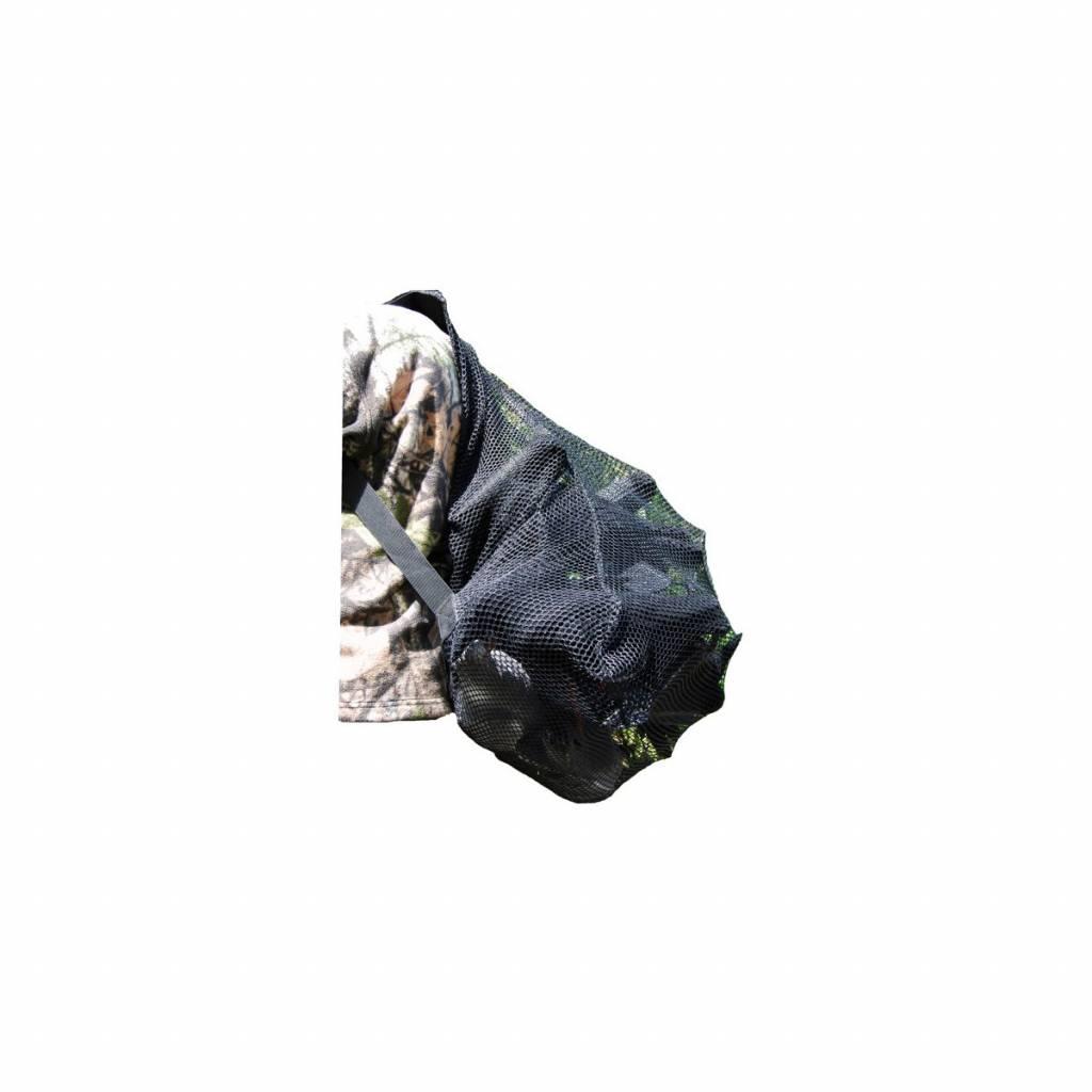 Rugzak tbv lokvogels zwart grofmazig 50x70cm