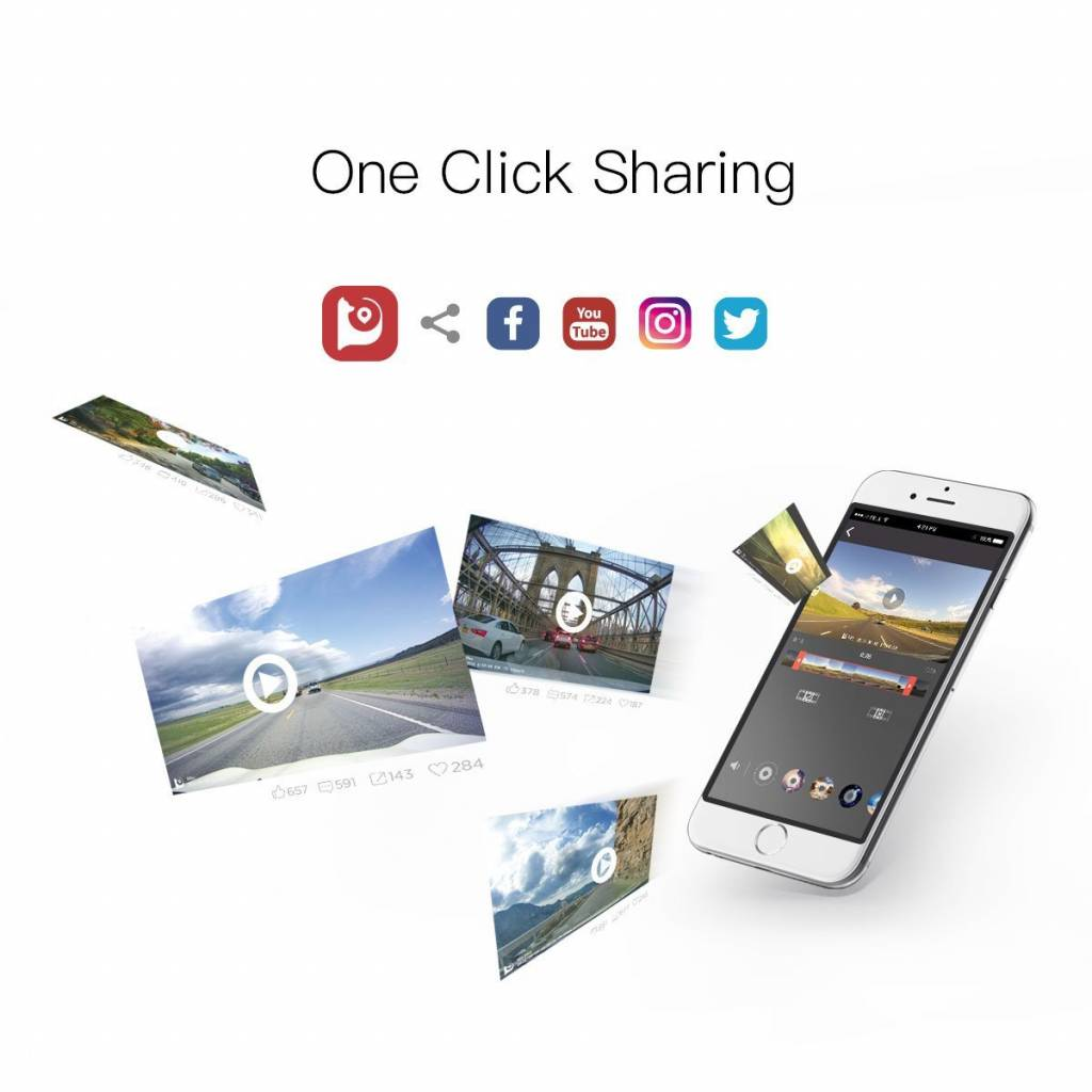 Mini WiFi Dashcam 2019 versie