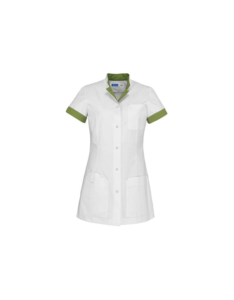 "De Berkel Verpleegschort ""JILL"" wit met leaf"