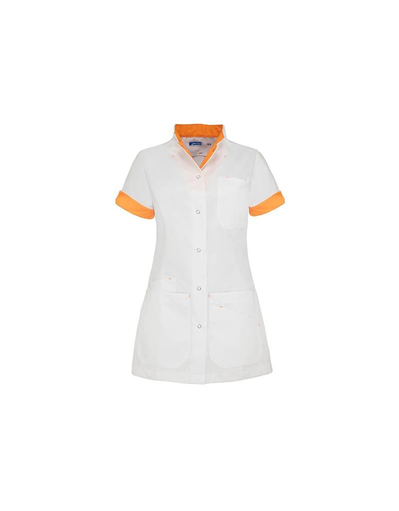 """De Berkel Getailleerd damesjack """"LIVIA"""" - wit met oranje"""