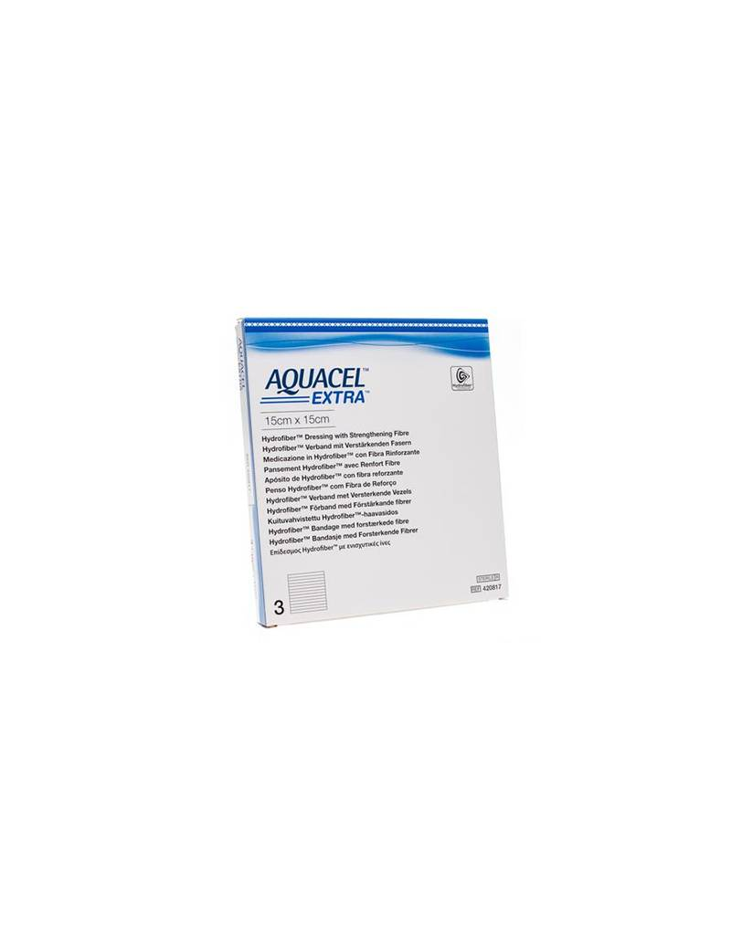 Aquacel Extra Hydrofiber verband + versterkende vezel