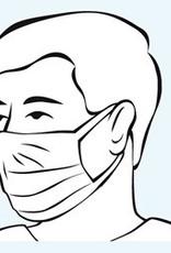 Hartmann Kwalitatief mondmasker - per 50st - niet steriel - blauw - comfort loop