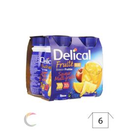 Delical Delical Vruchtendrank Multivruchten Drankje 4x200ml