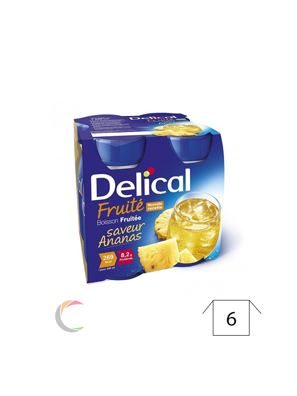 Delical Delical vruchtendrank - Ananas - per 4x200ml