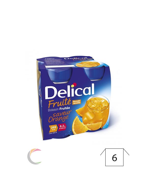 Delical Delical vruchtendrank - Appelsien - per 4x200ml