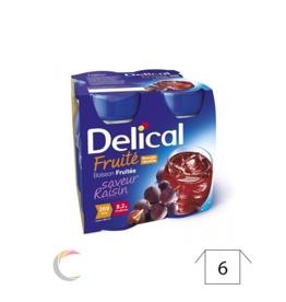 Delical Delical boisson fruitee Raisin- par 4x200ml  - Copy - Copy