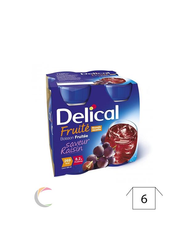 Delical Delical vruchtendrank - Druiven - per 4x200ml