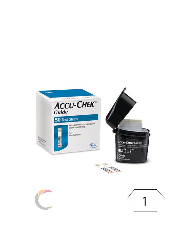 Roche Accu-chek Guide - teststrips - Smartpack 50st