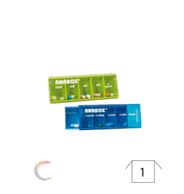 ADhome Boîte à médicaments Anabox pour 1 jour, 5 compartiments