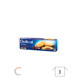 Delical Delical Nutra'Cake koekjes CHOCOLADE - pak van 9st