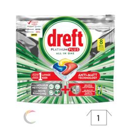 Tablettes lave-vaisselle Dreft all-in-one Platinum Citron par 8pc