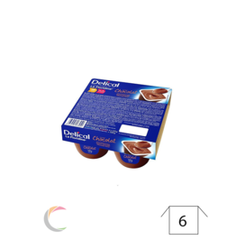 Delical Delical créme dessert - Chocolade - per 4stuks