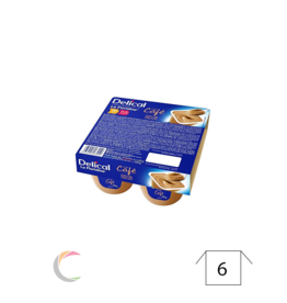 Delical Delical créme dessert - Café - par 4pc