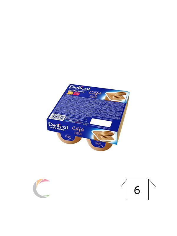 Delical Delical créme dessert - Koffie - per 4stuks