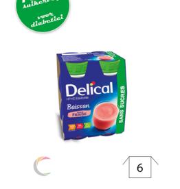 Delical Delical HP HC met zoetstoffen Aardbei - per 4stuks