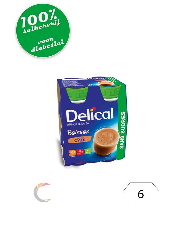 Delical Delical HP HC met zoetstoffen Koffie - per 4stuks