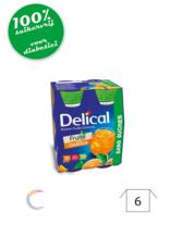 Delical Delical vruchtendrank - Sinaasappel - met zoetstoffen - per 4stuks