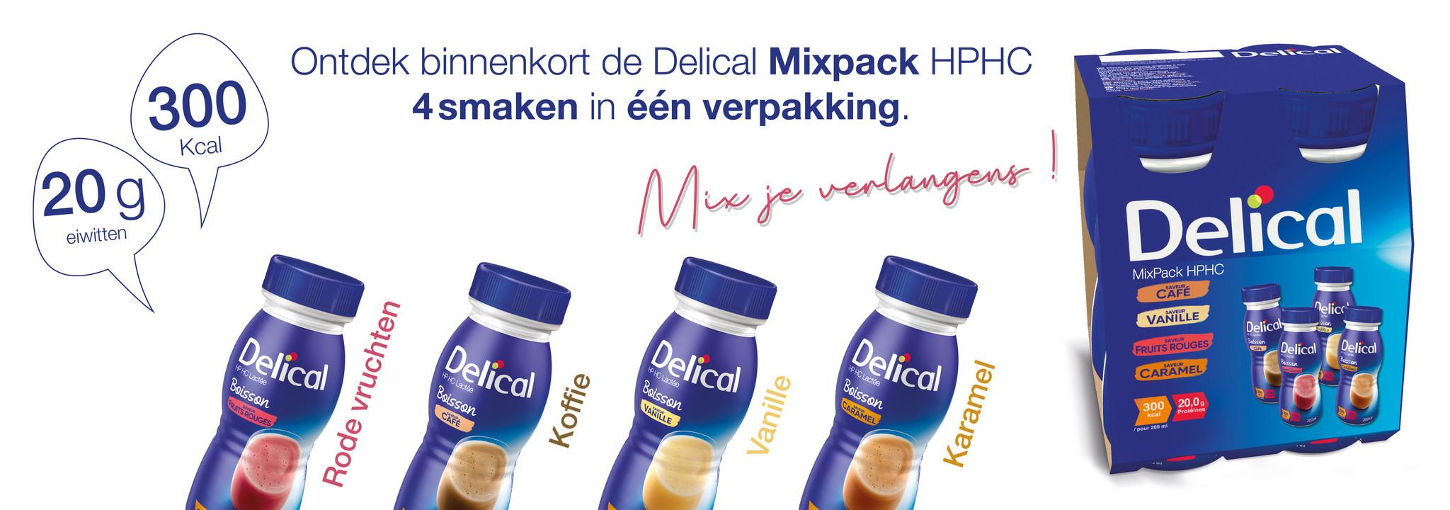 Delical Delical HP HC drank - assortiment 4 smaken