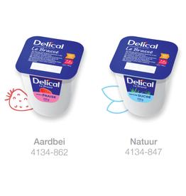 Delical Delical Yoghurt aardbei - pak van 4stuks