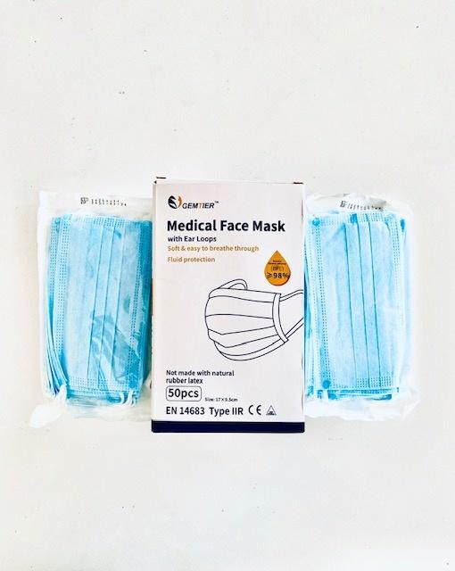 Cumerco Chirurgisch mondmasker - type IIr - per 50st  - ZORGPROFESSIONALS