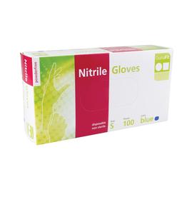 Handschoen Nitrile - doos van 100st - Blauw