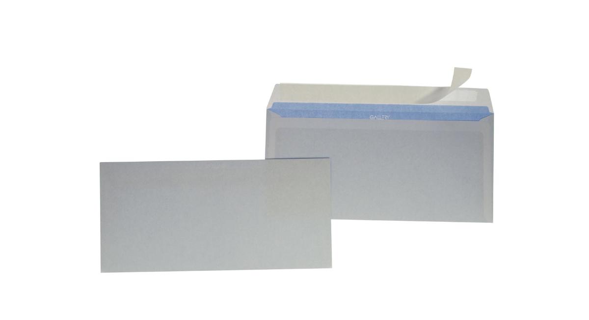 Enveloppes, ft 114 x 229 mm, sans fenêtre, avec bande adhésive, paquet de 50 pièces