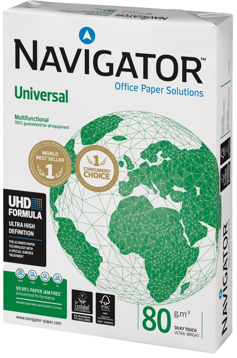 Kopieerpapier - A4 - 80gr - Navigator - pak van 500vel