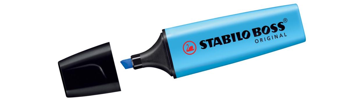 Fluo marker - Stabilo Boss - Blauw
