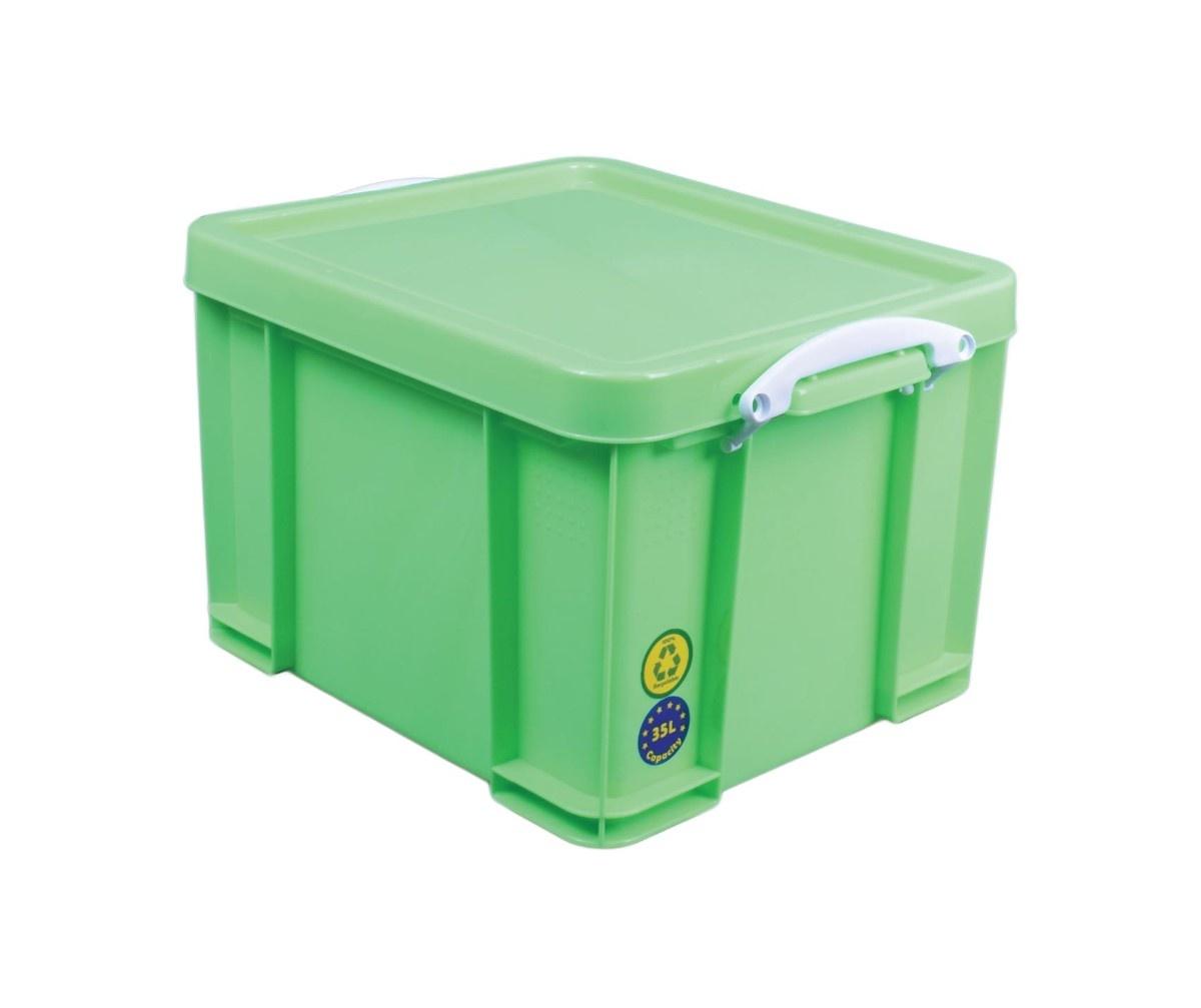 Really Useful Box boîte de rangement 35 litre, rose néon avec poignées blanches - Copy - Copy