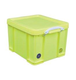 Really Useful Box boîte de rangement 35 litre, rose néon avec poignées blanches - Copy - Copy - Copy