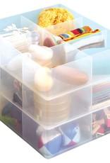 Onderverdeler met 6 vakjes transparant voor RUB box