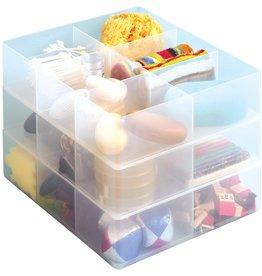Oonderverdeler met 6 vakjes transparant voor RUB box
