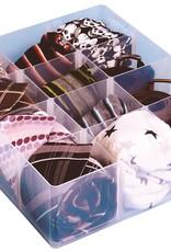 Really Useful Box Diviseur avec 12 compartiments, transparent