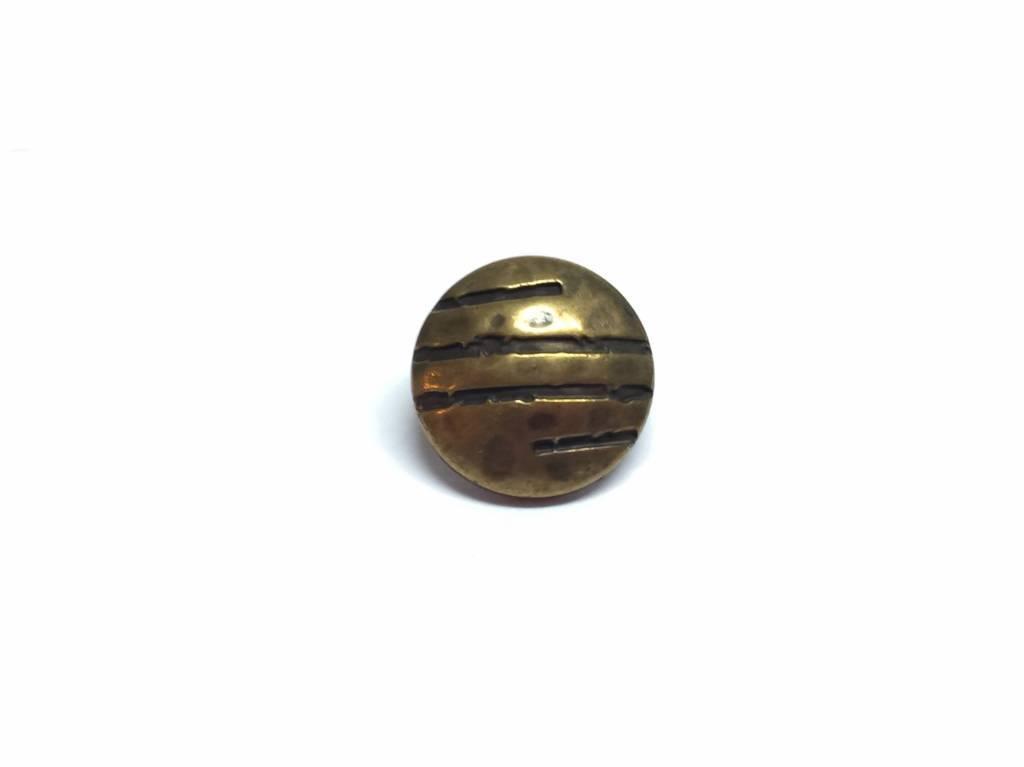 "Metallknopf ""Curved"" Ø 15 mm, altmessingfarben"
