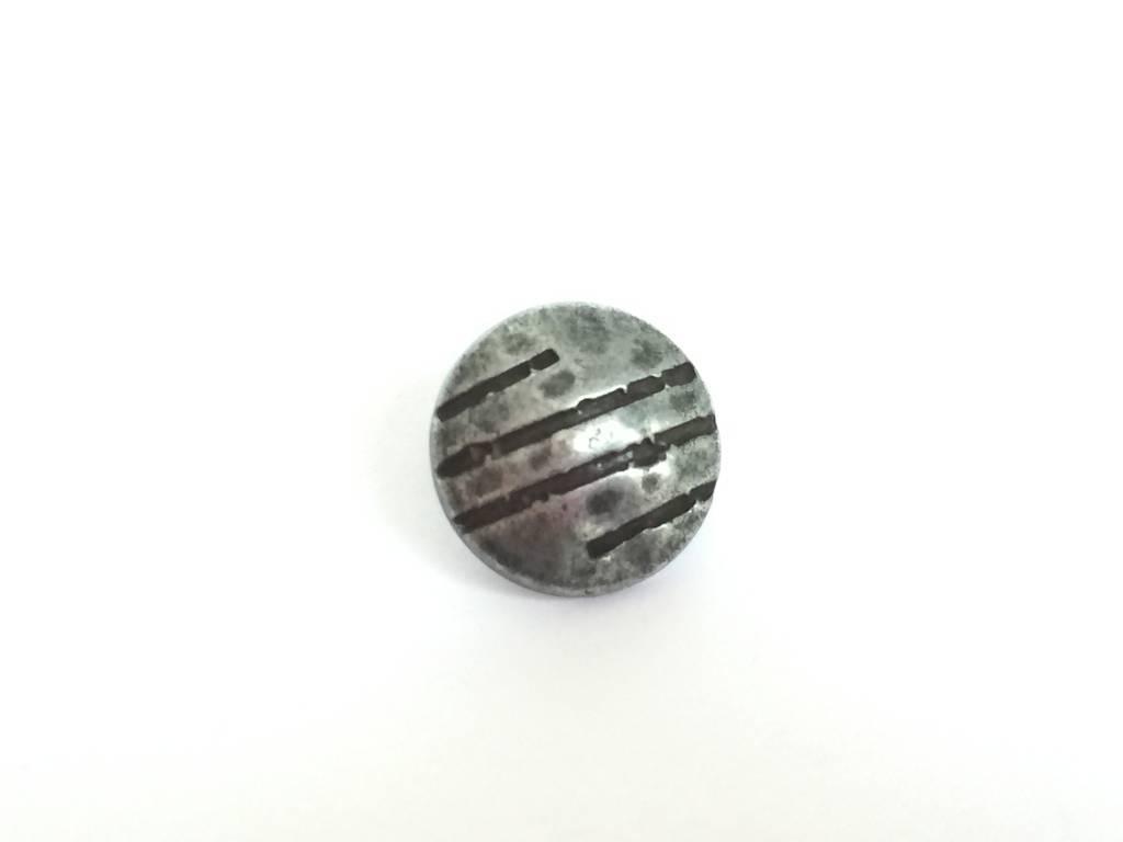 "Metallknopf ""Curved"" Ø15mm, eisenfarbig"