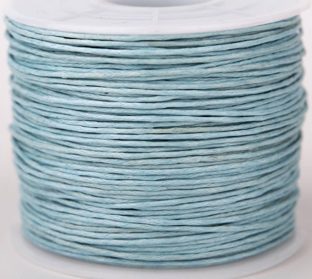 gewachste Baumwollkordel 1mm, Farbe 24 pastell türkisblau
