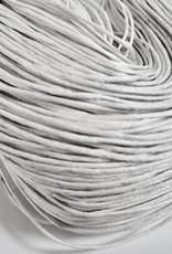 gewachste Baumwollkordel 1mm, Farbe 04 weiss