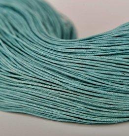gewachste Baumwollkordel 1mm, Farbe 22 türkisgrün