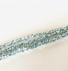 Glasschliffperlen feuerpoliert 4mm, Farbe 38 light Seafoam Ice