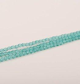 Glasschliffperlen feuerpoliert 4mm, Farbe 461 Seafoam