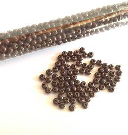 Metallperlen 8/0 - Heavy Metal Seed Beads - dark brown