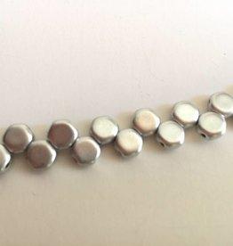 Honeycomb Glasperlen, Farbe Silver matte