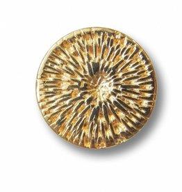 Metallknopf mit Webmuster ø 13 mm, goldfarben