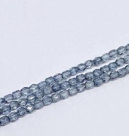 Glasschliffperlen feuerpoliert 4mm, Farbe 23 Crystal Blue Luster