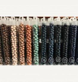 Holzperlen 6 mm, Farben 15-28
