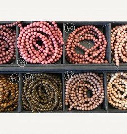 Holzperlen 6 mm, Farben 38-42