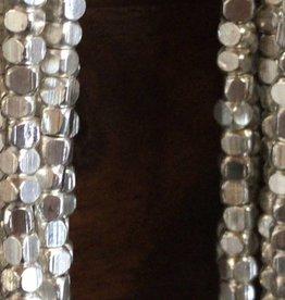"Metallwürfel ""soft"" - Cornerless Cubes 3,2 mm, silver plated brass"