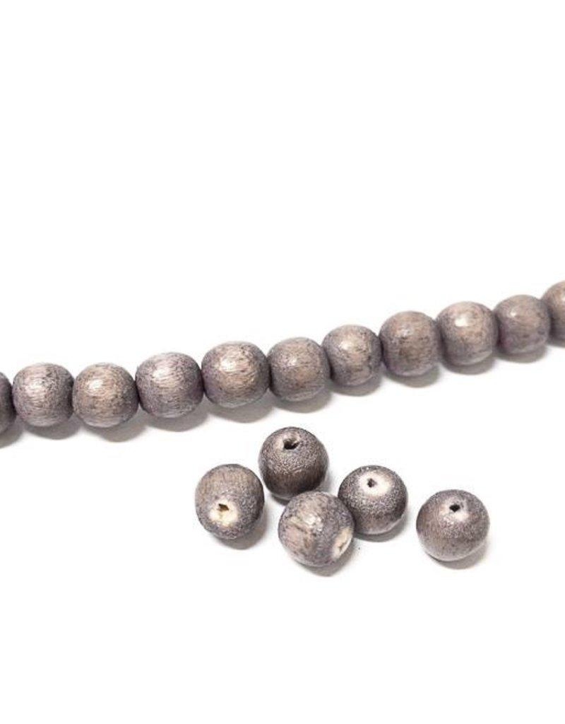 Perlen aus Holz, 6 mm, Farbe B11 natural pale lila